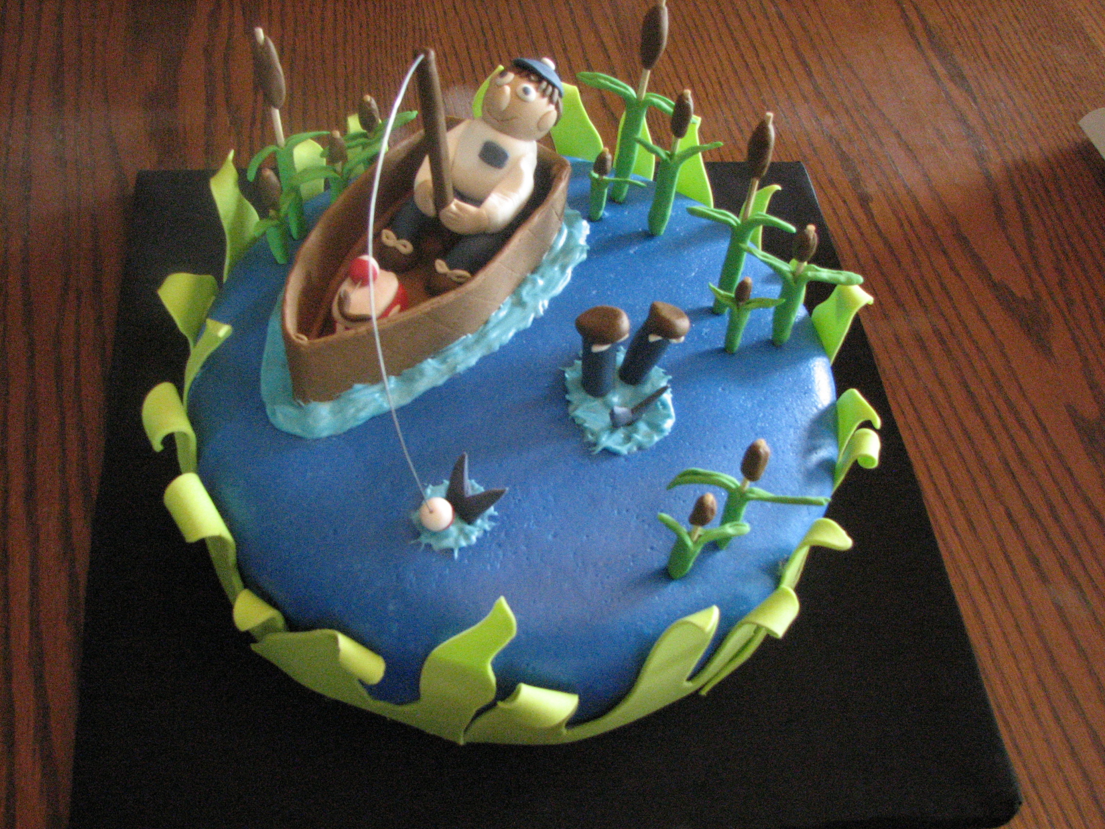 Pin Fishing Themed Wedding Cake Topper For The Groom Grooms Cake On